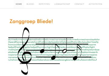 link naar http://zanggroepbliede.nl